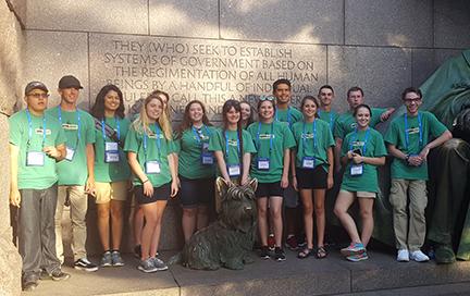 Local students visit Washington DC