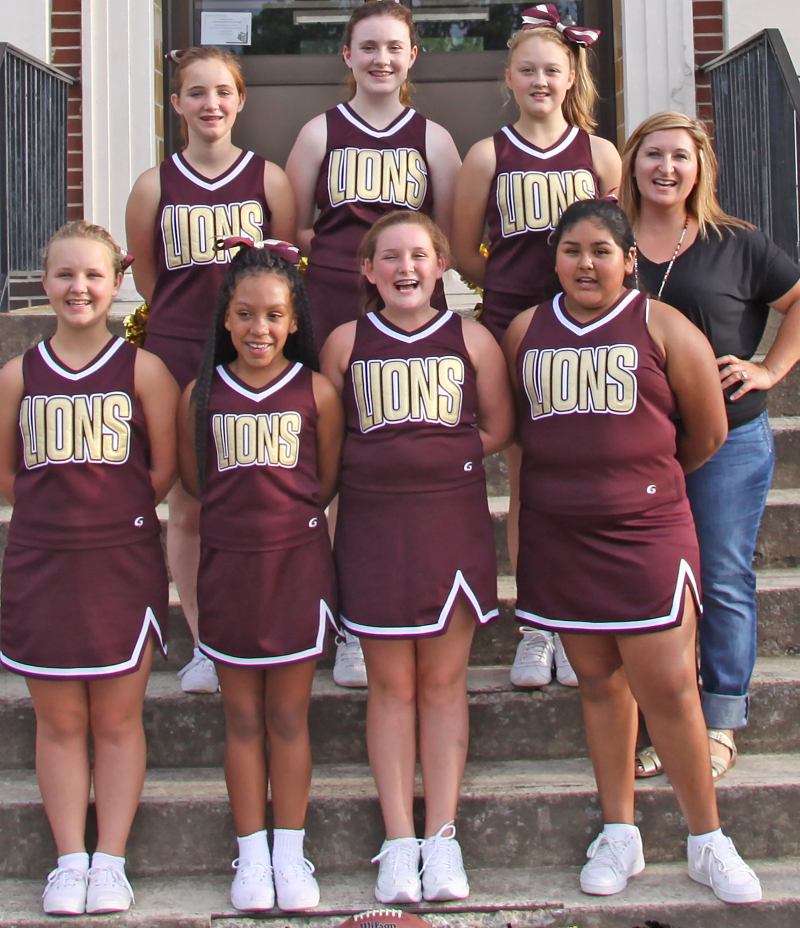 2016 Middle Grade Cheerleaders
