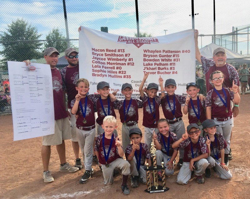 Cannon All-Stars capture 5/6 Coach-Pitch state title