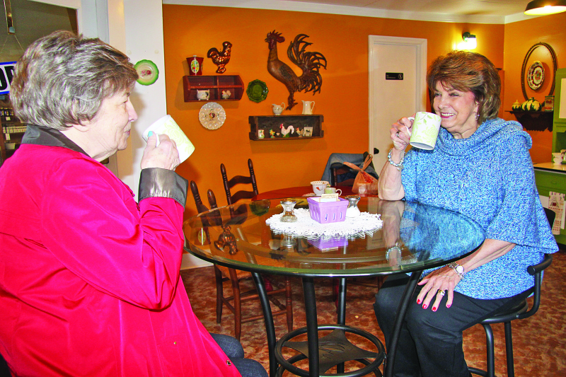 Cafe 'charms' its customers