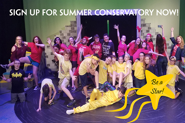 Sign up now for 2019 Summer Youth Conservatory