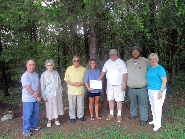 Friends of Edgar Evins State Park receive grant