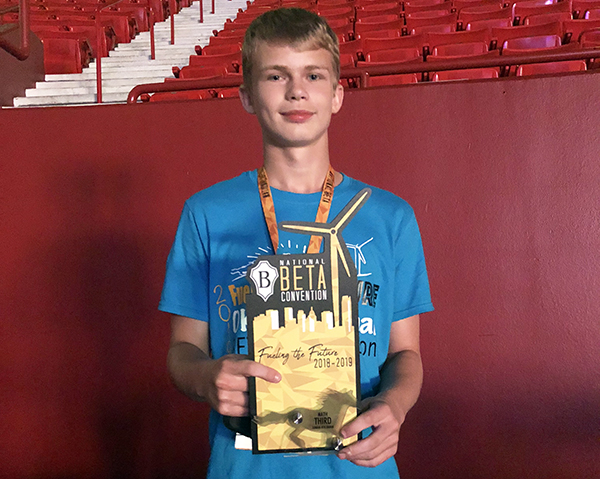 Powell places 3rd in National Beta competition