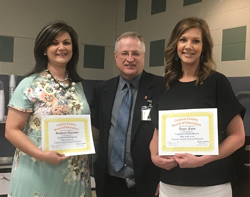Two share schools' Employee of the Month honor