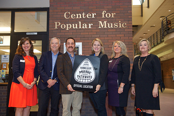 MTSU CENTER FOR POPULAR MUSIC TO BE INCLUDED IN TENNESSEE MUSIC PATHWAYS PHASE I