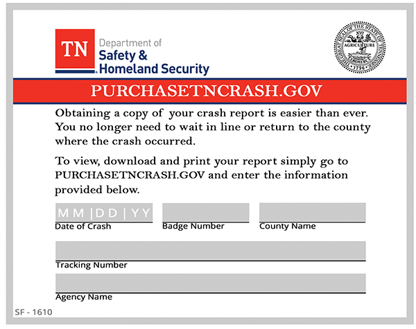 PurchaseTNcrash website available for crash reports