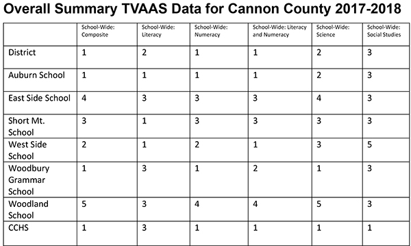 Curtis: Latest Cannon TVAAS scores show growth, progress