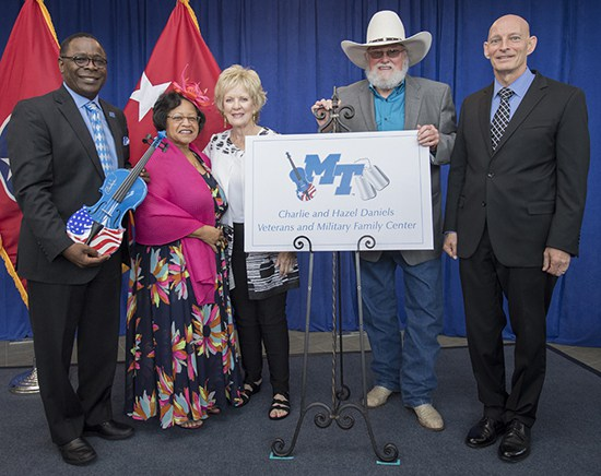 Charlie Daniels honored at MTSU