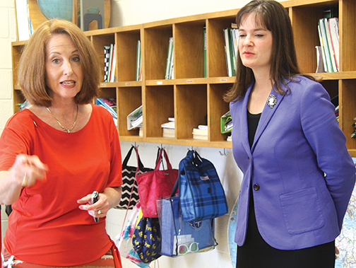 Commissioner visits East Side School