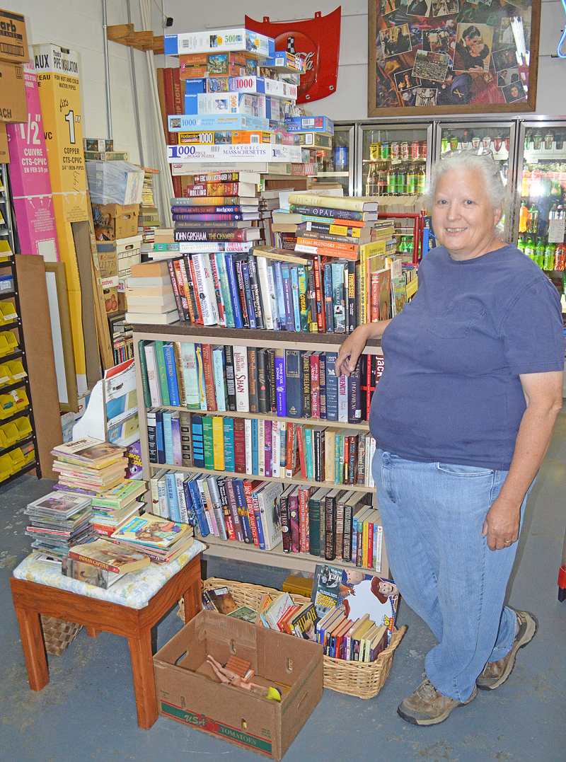 Books free for taking at Russell's Market | Russell's Market, books