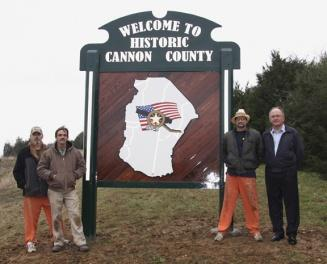 New signs a welcome sight for visitors | Welcome signs, Cannon County