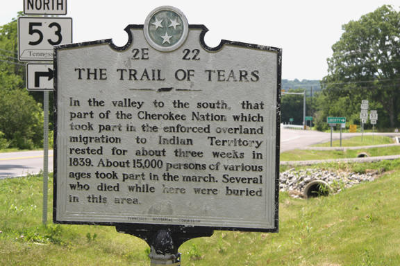 Where's the Trail of Tears marker?