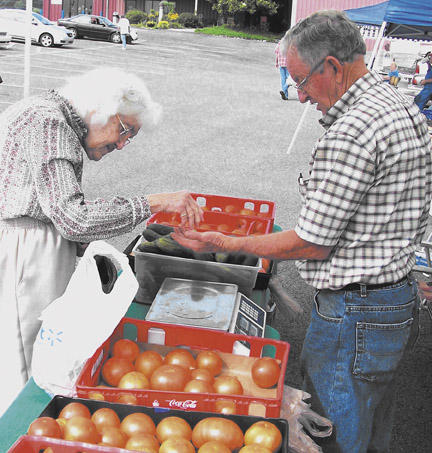 Veggie Tales at Farmer's Market   Farmers Market, feature store, Connie Esh