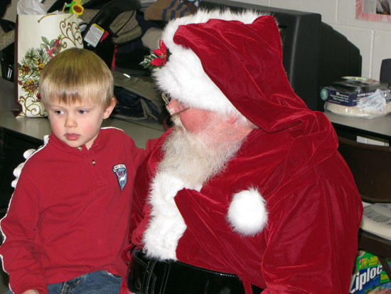 Santa Surprises Storytime Children At Library