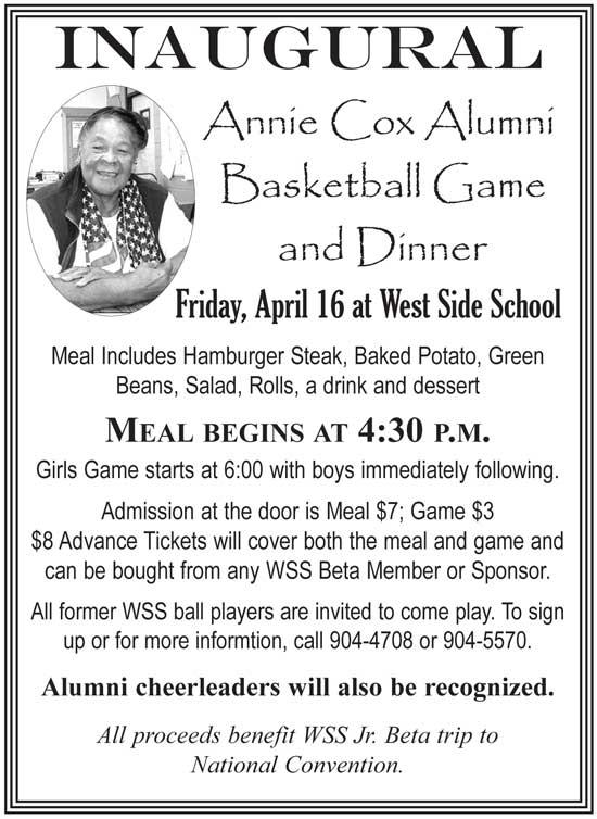 Inaugural Annie Cox Alumni Basketball Game And Dinner