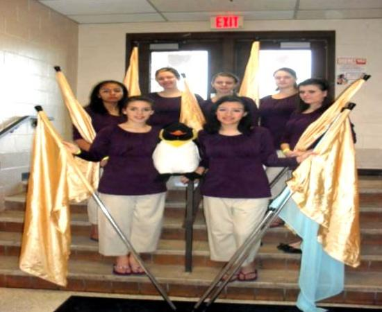 Winterguard Team Earns Top 5 State Finish