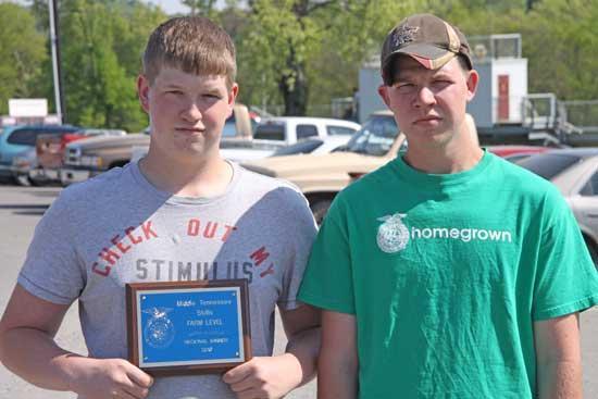 CCHS Students Receive FFA Award