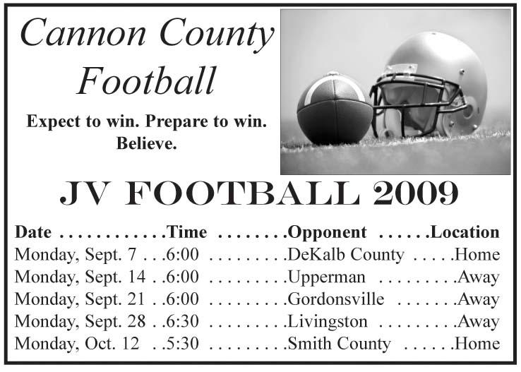 2009 Lions Football Schedules