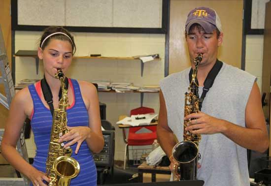 CCHS Marching Band Drills During Camp