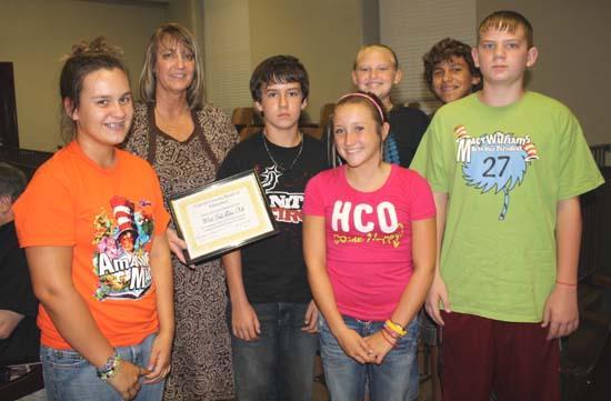 Jr. Beta Club Members Recognized By School Board
