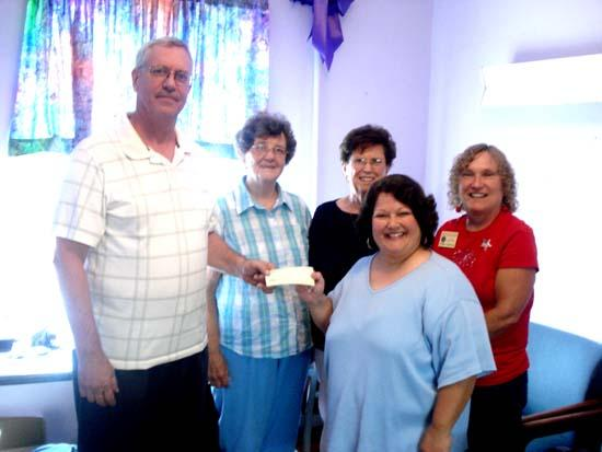Monthly Support Check: Church Donates To SAVE