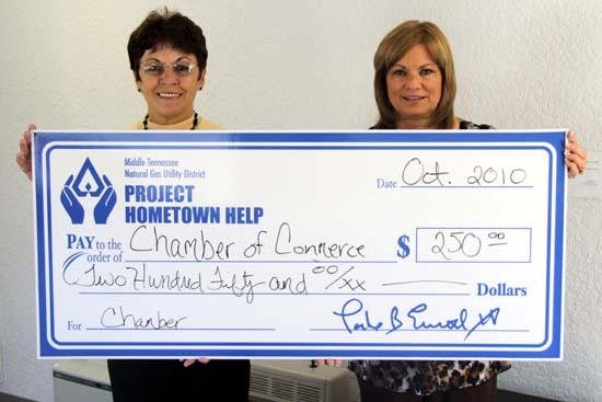 Project Hometown Help Contributes To Chamber