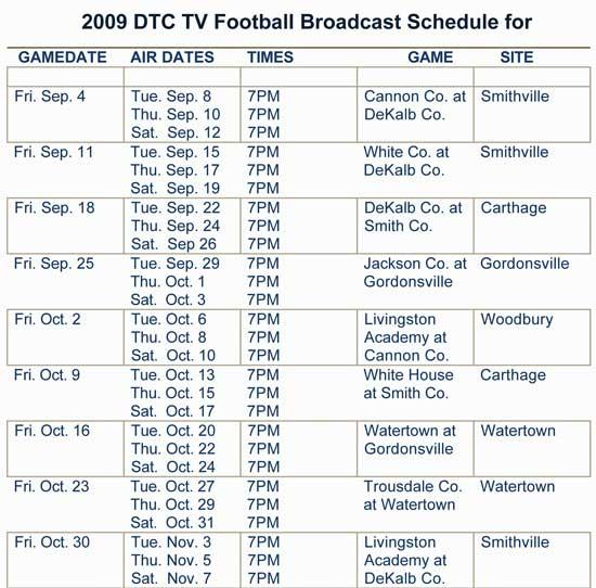 DTC TV Adds Extra Showing Of Prep Football Game Of The Week