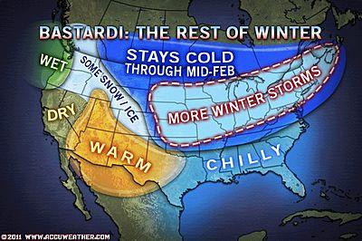 Forecast For Rest Of Winter Looks Rough