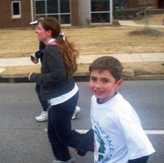 Mom, Son 'Just Keep Running'