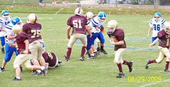 Cannon County Pee Wee Football Lions Battle Jackson Co.