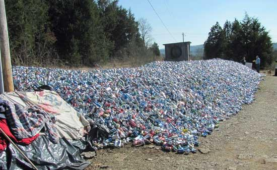 Couple Collects A Mountain Of Cans