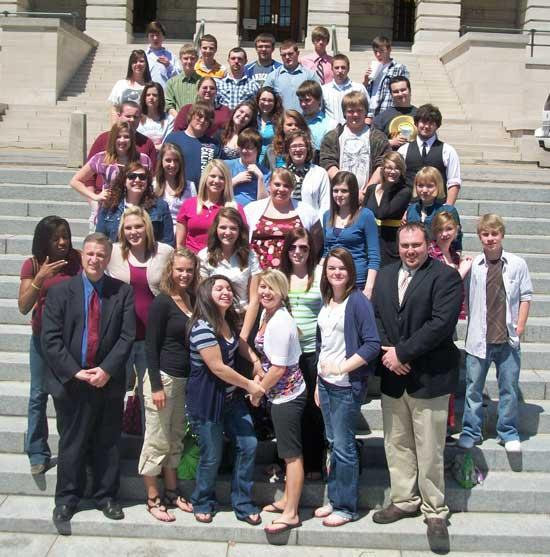 CCHS U.S. Government Class Visits State Capitol