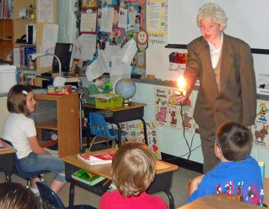 Edisons Visit Auburn School