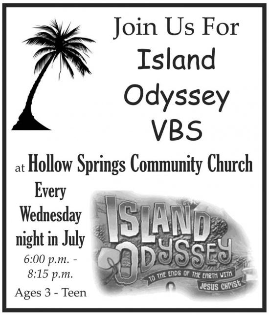 Island Odyssey VBS Every Wednesday In July