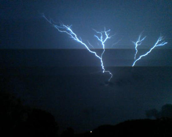 Lightning Lights Up Woodbury