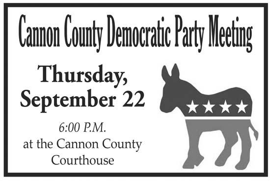 Democratic Party Meeting Thursday