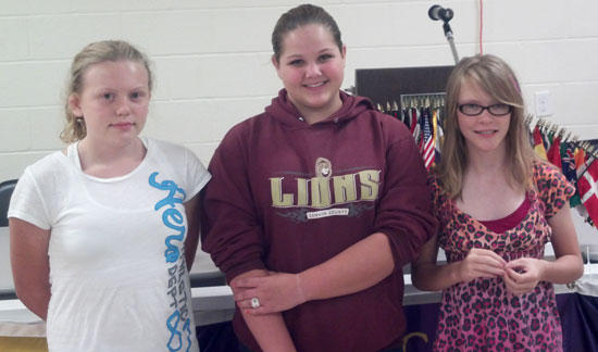 Three Join 4-H Honor Club