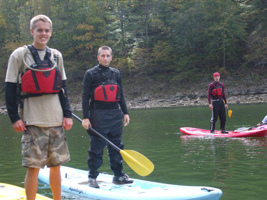 Outdoor Club Paddles Stand-Up Boards To Fancher Falls