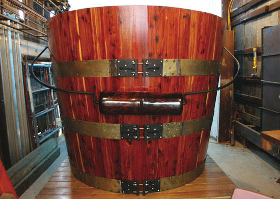 World's Largest Cedar Bucket Back In The 'Boro