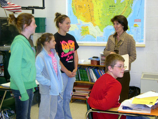 State Rep. Lynn Teaches Class At Short Mountain School