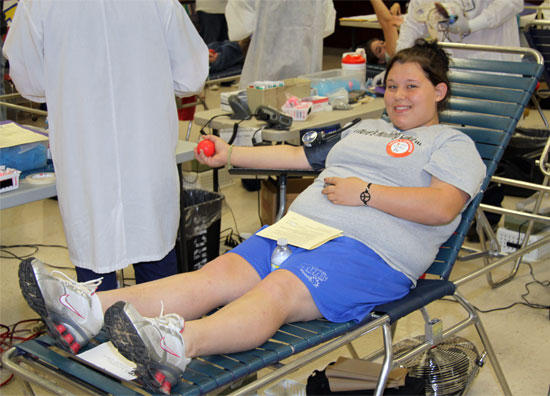 CCHS Students Donate During Red Cross Blood Drive