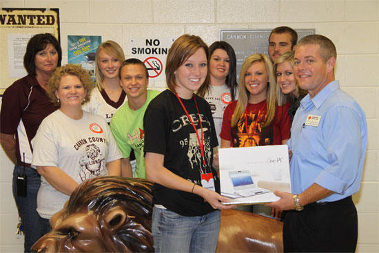 Red Cross Awards New Computer To CCHS