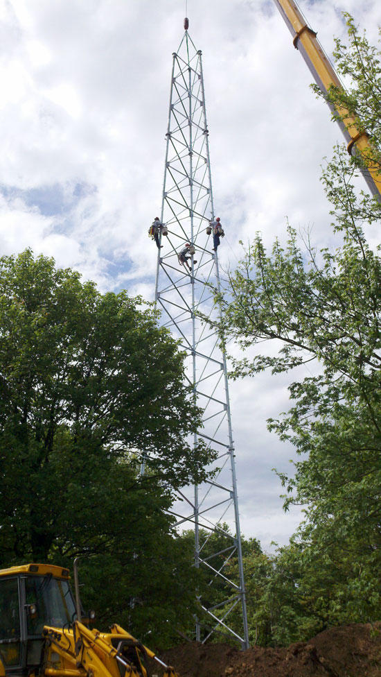 Communications Tower Phase Completed
