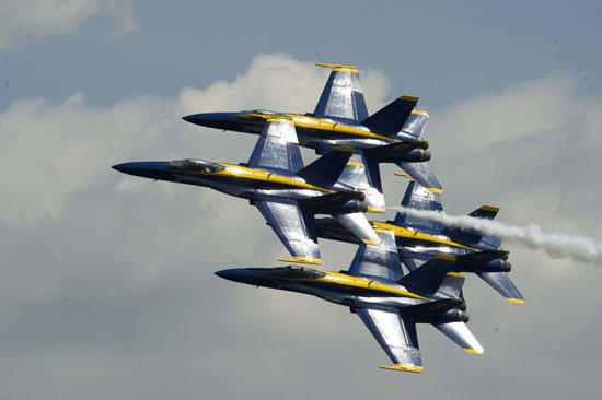 Air Show Attracts Young, Old Spectators