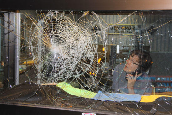 Smash, But No Grab, At Local Jewelry Store; Funeral Home, Multiple Cars Also Vandalized