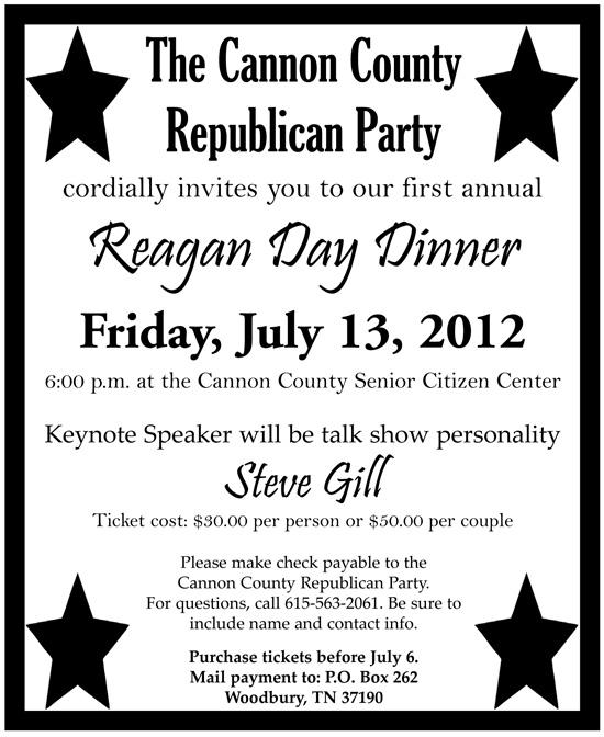 July 13: Reagan Day Dinner