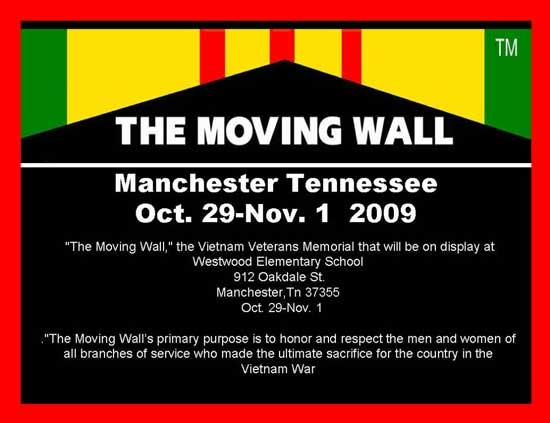 Vietnam Veterans Memorial In Manchester Oct. 29-Nov. 1