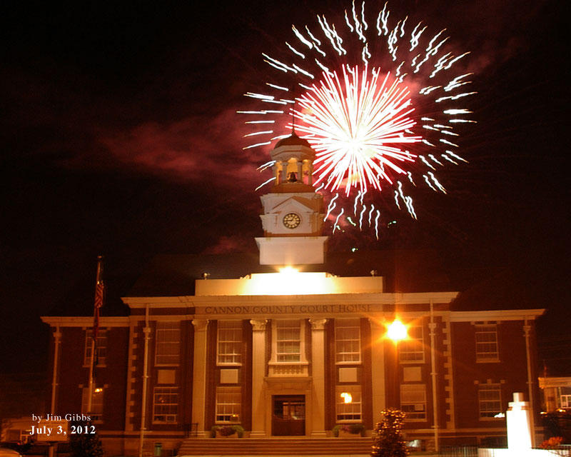 Courthouse Explodes With Patriotism