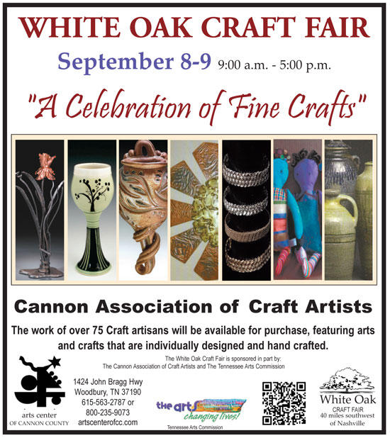 Sept. 8: White Oak Craft Fair