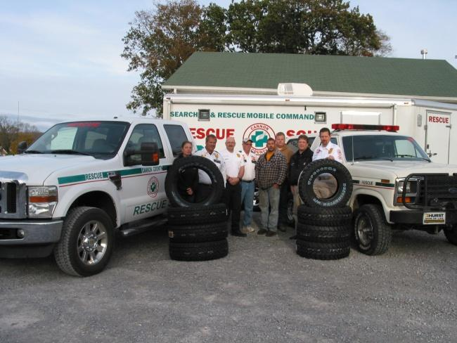 Rescue Squad gets tires